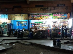 Dhabas and small shop in the light of night