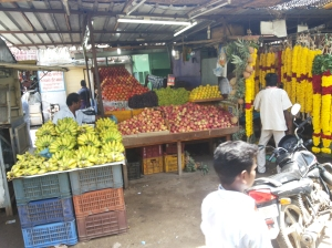 Fruits and Flower stalls